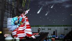 907 (Tomomi alpaca Homewood) Tags: tomoto japonica bms anc taikou keke 8f8 rh balaclava shootingstars summernight firefly watarmelon japanesegarden kimono yukata