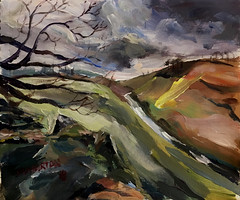 Dove dale Harrington Derbyshire (Captain Wakefield) Tags: sky hills allaprima contemporary abstract expressionist acrylic oil landscape burton samuel impressionist painting art derbyshire hartington dale dove
