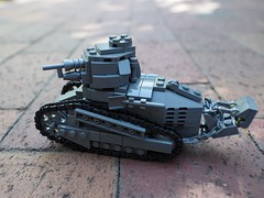 Renault FT-17 (alex_bricks) Tags: tank world war i french trench soissons lego wwi