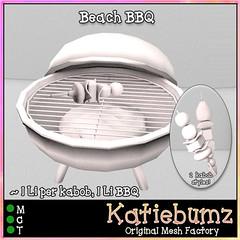 Beach BBQ (~Katiebumz~) Tags: mesh template vision board books summer reading beach bbq barbecue katiebumz full perm sl secondlife
