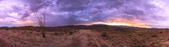 The sky was all purple, there were people runnin' everywhere (slworking2) Tags: california unitedstates us clouds sunset panorama ominous storm cloud sky purple blue orange desert anzaborrego anzaborregodesertstatepark weather rain