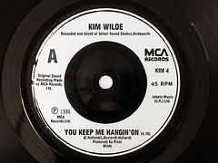 """Kim Wilde """"You Keep Me Hanging On"""" 1986 (fstop186) Tags: kimwilde 1986 45 single vinyl nostalgia retro rpm black record"""
