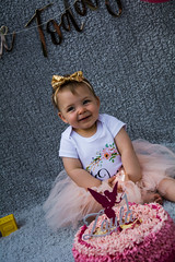 Baby Zayla-9 (Andy barclay) Tags: baby happy birthday 1st toddler girl cake smash one first smile messy portrait young pink