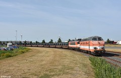 RFO 9802 & 1831, Amsterdam Houtrakpolder (HCT Terminal), 18-7-2018 9:26 (Derquinho) Tags: rfo 9802 1831 awhv hrp amsterdam houtrakpolder westhaven staal staalrollen hct terminal stahl stahlzug hoogovens bvhc steel rolls train tata beverwijk rail force one 1 railforce