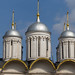 Domes of the Patriarch's Palace at Kremlin in Moscow