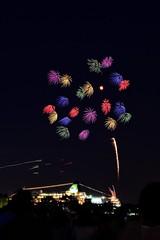 Sparkling Twilight (Ryo0119) Tags: japan yokohama nikon d800 summer noflash fireworks sparkling twilight colors night nighitview 28mm