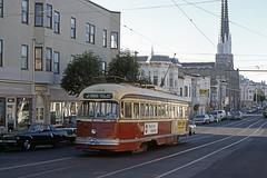 US CA San Francisco MUNI 1190 6-1979 J-Church - Frank Miklos Photo (David Pirmann) Tags: tram trolley streetcar transit california ca sanfrancisco muni marketstreetrailway pcc