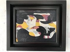 Jim Harris: Black River, Black Crow, Golden Fish, Golden Bow. (Jim Harris: Artist.) Tags: art arte maalaus malerei málverk makabe målning malerkunst contemporaryart abstractart modernart painting