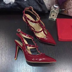 Valentino Stud Ankle Strap 95mm Patent Pumps Wine (coach0001) Tags: valentino stud ankle strap 95mm patent pumps wine