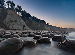 CA Dept of Concretions (mikeSF_) Tags: california mikeoria bowlingballbeach mendocino county beach pentax morning sunrise civil twilight bluehour rocks boulder seascape seastack cliffs waves shore pacificocean ocean concretions cenozoic bowling ball wwwmikeoriacom mikeoriaphotography