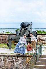 Fort Macon - Family (Vawxish) Tags: civilwar war fortmacon reenactment northcarolina union beach atlanticbeach ww2 combat fort guns battle america freedom canon canon5dmarkiv 200mm ocean atlantic
