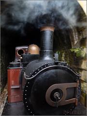La vieja locomotora de vapor (Nufus) Tags: olympus omdem1 microed714 transporte ferrocarril antiguo recuerdos locomotora vapor movimiento