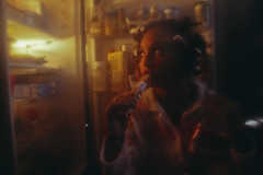 Lolita's Life: Home Alone (TheJennire) Tags: photography fotografia foto photo canon colours colores cores summer lolita movie cinema film photoshoot fashion style hair cabello pelo cabelo makeup retro 90s book vladimirnabokov 1997 conceptualphotography projectneverland girl indie people loleeta doloreshaze fridge comida food vintage teenmodel 2018 filter dreamy ethereal dark light