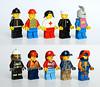 40 years of evolution (Vanjey_Lego) Tags: lego minifig minifigs minifigure minifigures 1978 2018 castle nexo nurse stickers firefighter
