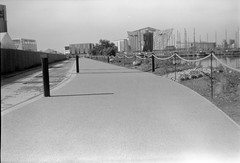 Belfast Docks 24062018 - 006 (irishlad031_vintage) Tags: belfast browniecamera blackwhite boxbrownie ulster ulsterisirish irishlad031vintage irishlad031 irish ireland film vintagephotography cityscape coantrim docks titanicquarter