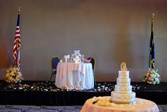 Wedding Cake - Table for Bride and Groom (mahteetagong) Tags: chicago wedding navalstationgreatlakes nikon d80 35mmf18 cake disney princess reception table