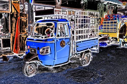 India - Karnataka - Mysore - Market - Trishaw - 215dd