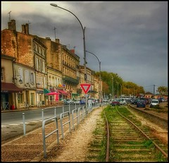 A stroll by the tracks.... (Sherrianne100) Tags: aquitaine wine blayefrance france