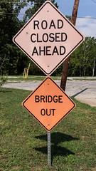 Bridge out (MarksPhotoTravels) Tags: greenvillecounty mill sign southcarolina southernbleacheryandprintworks taylors taylorsmill unitedstates