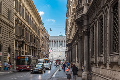 Streets Of Rome (Tim Bellette) Tags: ancient architecture blue building bus car driving female italy lady man old people rome sky statue street streetphotography tourist travel walk woman male pedestrian