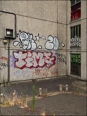 Oker / Lord / Time (Alex Ellison) Tags: oker gsd lord ghz time osv southlondon lewisham derelict estate urban graffiti graff boobs