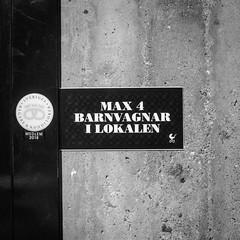 Max 4 trollies on the premises at any time... (lol Stockholm) (Mattias Lindgren) Tags: nikond600 50mmf18 linköping rewind summer sweden