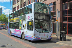 First Manchester MX58DXW (Mike McNiven) Tags: first manchester bee bus memory bury interchange piccadilly gardens