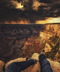 Storm Approaching (Michael Lawenko dela Paz) Tags: grandcanyon arizona storm sky clouds weather rain nationalpark usa america