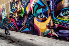 Santa Ana - Blending In (www.karltonhuberphotography.com) Tags: 2018 alley art citystreets colorful karltonhuber man mural peoplewatching santaana southerncalifornia streetphotography streetscene vibrant worker