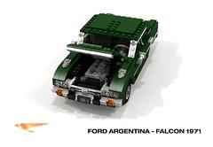 Ford Argentina - Falcon 1971 (lego911) Tags: ford falcon argentina 1971 1970s classic inline six auto car moc model miniland lego lego911 ldd render cad povray south america death squad