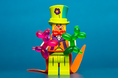 Party Clown (cuurchk) Tags: lego legominifigure collectibleminifigures legocollectibleminifigures series18 legocms partyclown partyclownminifigure partyclownminifig clown party minifigure minifigures minifigs build create legophotography toyphotography minifigurephotography legoportrait