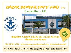 ⚠ BRASÍLIA - DF Bazar Beneficente Fixo (BBF) Organizadores: Casa de Ismael - Lar da Criança Data: SEGUNDA A SÁBADO Horário:  08h às 12h e 13h30 às 17h30/ SÁB,  08h às 12h. Local: St. de Grandes Áreas Norte 913 Conjunto G - Asa Norte, Brasília - DF CEP: 70 (garimpasso) Tags: instagramapp square squareformat iphoneography uploaded:by=instagram