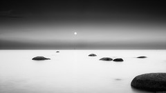 nghtlight (andreasbrink) Tags: landscape oeland summer sweden bw minimal moon exhibition