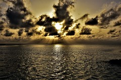 Sunset and the Indian Ocean. (pstone646) Tags: sunset sea water reflection sky clouds nature weather maldives indianocean