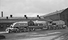 "Africa Railways - Rhodesia Railways 15th Class 4-6-4+4-6-4 ""Beyer Garratt"" type steam locomotive Nr. 403 (Beyer Peacock Locomotive Works, Manchester-Gorton 7355 / 1950) (HISTORICAL RAILWAY IMAGES) Tags: africa railways rhodesia steam locomotive garratt bp beyergarratt manchester gorton 464464 1950 explore"