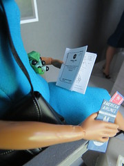9. Proofreading her report (Foxy Belle) Tags: doll katherine johnson made move rebodied redressed science nasa celebrity dollhouse miniature diorama airport work barbie uniform vintage gray american airlines business madmen roger sterling silkstone playscale ooak 16 scale 1960s