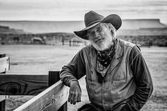 old cowoys are still alive (JP Defay) Tags: america arizona western cowboy black white bnw portrait portraiture profile tourisme noiretblanc blackandwhite