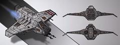 Corellian Transfer Shuttle (Inthert) Tags: drawing ship space star wars concept art sketch corellian transfer shuttle