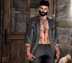 . EohB . #VoltHair #Catwa #Straydog #SU #NOCHE #ClefDePeau #DAPPA #REBELLION #MOM #L'etre (Crayolas Clothes) Tags: volthair catwa straydog su noche celfdepeau cdp cappa rebellion mom letre gay dude boy men man buddy mate male lgtb robe pants print japan beard smoke cat kitty house sl slmen slfashion slfashionmen fashionmen fashionman avatar belleza tattoos secondlife
