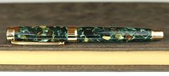 Pistachio Leveche Fountain Pen - Bock Titanium Nib (BenjaminCookDesigns) Tags: fountainpen custom bespoke engraved personalised classic vintage artdeco style gift birthday christmas fpgeeks fpn giftforhim giftforher füllfederhalter