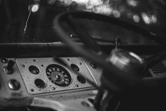 Inertia (3rd-Rate Photography) Tags: van ford econoline 1967 dashboard vehicle automobile automotive threeonthetree blackandwhite bw canon 50mm 5dmarkiii jacksonville florida 3rdratephotography earlware 365