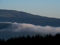 Over the hills (absoluteforecast) Tags: scotland highlands nevis fog rolling hills pine forest landscape morning
