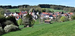 Lovely April in our village (:Linda:) Tags: germany thuringia village bürden church tree barn blooming solarpanel shed
