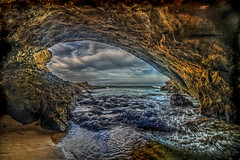 Clouds Through the Cave (Michael F. Nyiri) Tags: 1000stepsbeach lagunabeach beach ocean cave rocks pacificocean california southerncalifornia nature geology