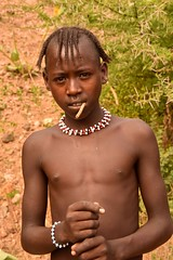 Banna Boy (Rod Waddington) Tags: africa african afrique afrika äthiopien ethiopia ethiopian ethnic etiopia ethnicity ethiopie etiopian omovalley omo outdoor omoriver banna tribe traditional tribal boy culture cultural child beads people portrait