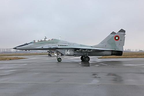 14, Mikoyan-Gurewitsch MiG-29UB Balgarian Air Force @ Graf Ignatievo LBPG
