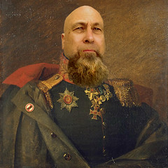 The American Revolution Of 2017 (Jeff Burger) Tags: notrump resist resistance general oilportrait painting canvaspotrait portraiture jeffburger beard menwithbeards parody lifestyle oilpainting selfie parodyselfie warriorbeard replaceface regal seattle pacificnorthwest georgedawe photoshop portraitgallery manofleisure menofleisure americanrevolution 1779 nationalportraitgallery howdyjeffburger doormen maitred strangerphotos