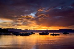 Sunnyside sunrise #2 (BDFri2012) Tags: laketahoe sunrise cloudy clouds lake reflection reflections water sky boats waterfront california ca highsierra highsierras mountains