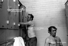 Coal miners Uk 1970s  South Kirkby Colliery, Yorkshire. 1979 (Homer Sykes) Tags: southkirkby yorkshire britain england uk archivestock british english colliery coal coalmining miners community 1970s 70s britishsociety workingclass tref31a3914 1979
