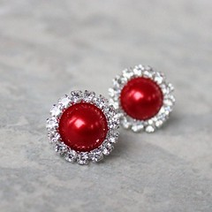 Red Earrings, Red Bridal Jewelry, Red Bridesmaid Jewelry, Red Pearl and Rhinestone Earrings, Bright Red Wedding Jewelry, Pierced Earrings https://t.co/IapfM8YTwD #jewelry #weddings #gifts #earrings #bridesmaid https://t.co/8ra1THQ7qk (petalperceptions.etsy.com) Tags: etsy gift shop fashion jewelry cute